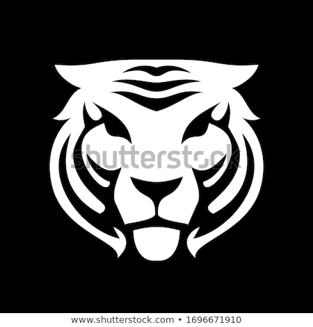 silhouetteTiger icon in nature  Stock photo © Olena
