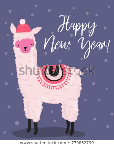New 2018 year knitted banner, vector illustration Stock photo © carodi
