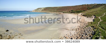 Panoramique vue plage cornwall Angleterre mer Photo stock © latent