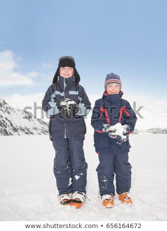 Meninos inverno diversão menino liberdade Foto stock © IS2
