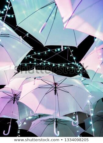 Sol noche tiempo naturaleza paraguas Foto stock © IS2
