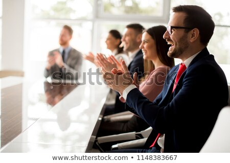 Stock photo: Businesspeople clapping