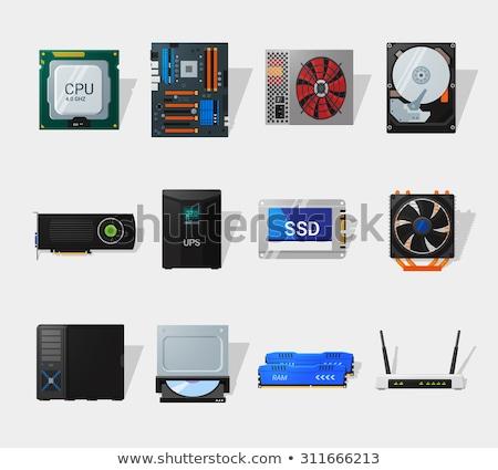 Hdd ikon különböző stílus vektor szimbólum Stock fotó © sidmay
