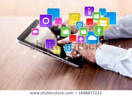 Digitális multimédia média modern absztrakt üzlet Stock fotó © kentoh