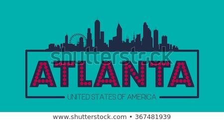 Atlanta skyline icon eenvoudige illustratie stad Stockfoto © blamb