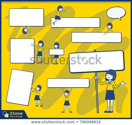 Type schoolmeisje 13 meisje school vrouwen Stockfoto © toyotoyo