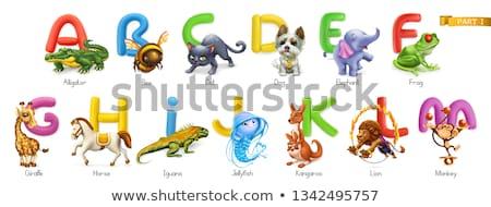 Biene Briefe Karikatur cute isoliert Stock foto © artisticco