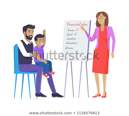 Family Vote for Plan on Board Vector Illustration Stock photo © robuart