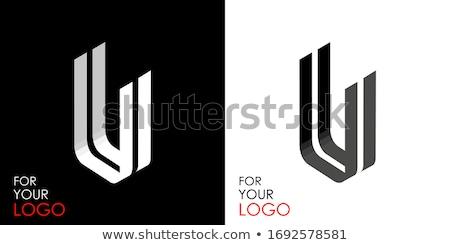Preto e branco carta 3D 3d render ilustração Foto stock © djmilic
