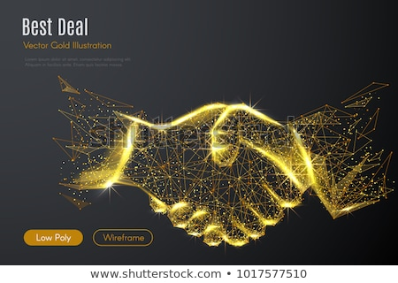 Handshaking business person in the office with network effect. concept of teamwork and partnership.  Stock photo © alphaspirit