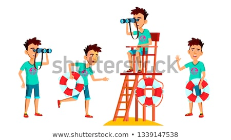 Cartoon Lifeguard Smiling Stock photo © cthoman