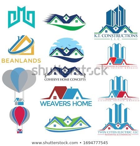 real estate   modern line design style vector illustration stock photo © decorwithme