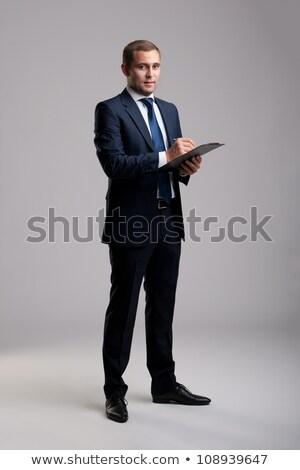 zakenman · schrijven · man · brief · notepad · schrijven - stockfoto © Minervastock