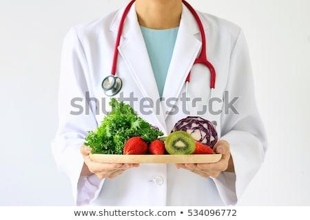 adolescente · salade · déjeuner - photo stock © neirfy