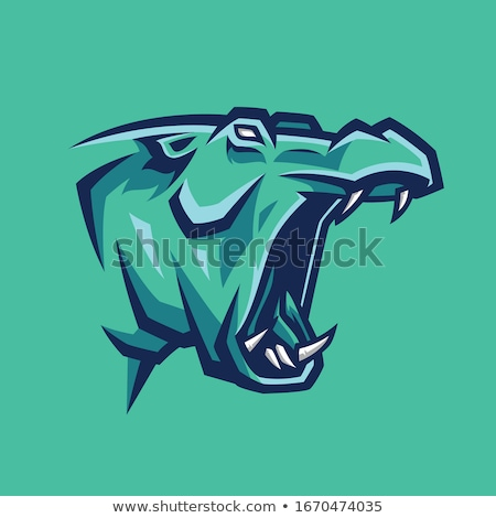 angry animals mascot collection stock photo © patrimonio