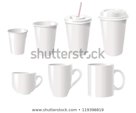 Hot Drink Mug Cup Vector. Coffee, Tea. Ceramic. Takeout Espresso. Morning Latte. Isolated Flat Carto Stock photo © pikepicture