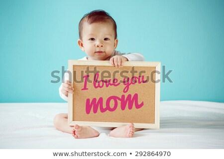 Kinderen teken woord roze illustratie Stockfoto © colematt