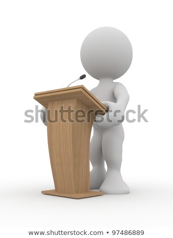 3d man with news microphone announcement Stock photo © nasirkhan