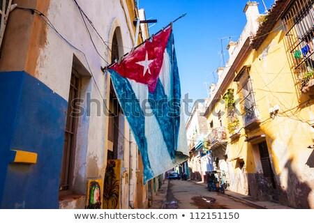 House with flag of cuba Stock photo © MikhailMishchenko