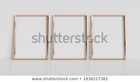 Dorado vacío marco de imagen pared clásico rectangular Foto stock © make