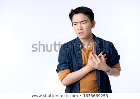 jeune · homme · présentation · affaires · affaires · jeans - photo stock © toyotoyo