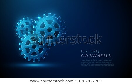 abstract composition of gear wheel in low poly style Stock photo © SArts