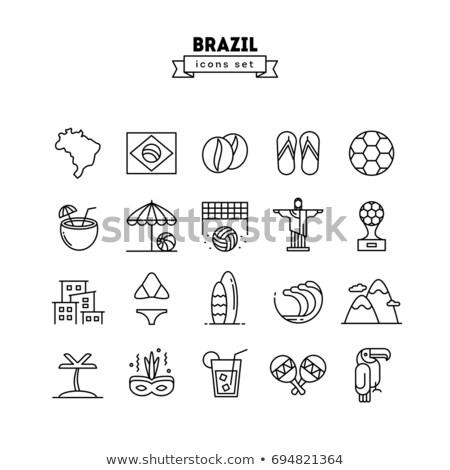 Rio · de · Janeiro · vektör · Brezilya · manzara · beyaz - stok fotoğraf © netkov1