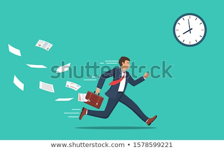 vector of businessman running Foto stock © olllikeballoon