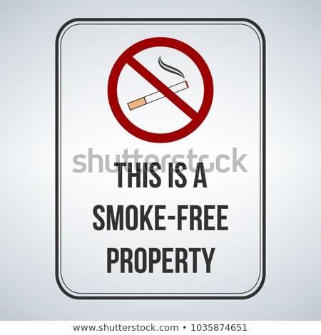 No smoking sign. This is a smoke free property. Vector illustrat Stock photo © kyryloff