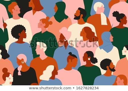 protest · groep · vector · silhouetten · menigte - stockfoto © brahmapootra