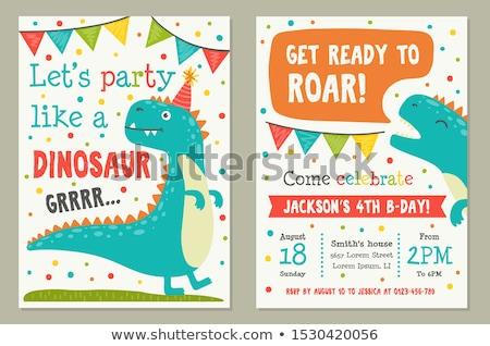 Einladung Postkarte Überraschung Party Vektor dekoriert Stock foto © pikepicture
