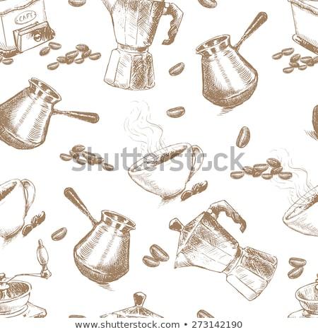 Geiser koffiezetapparaat patroon eps 10 water Stockfoto © netkov1