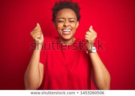 Привлекательная женщина черный Nice студию женщину глазах Сток-фото © Lopolo