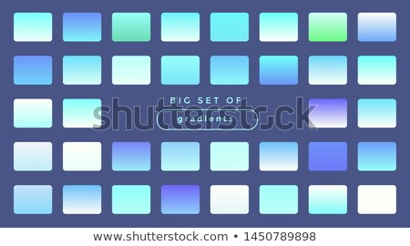 abstract vibrant colorful gradient swatches big set Stock photo © SArts