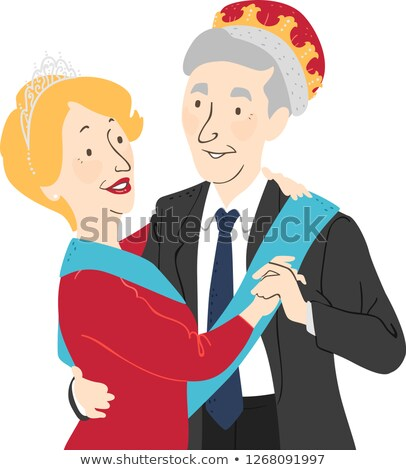 пром царя королева иллюстрация старший Сток-фото © lenm