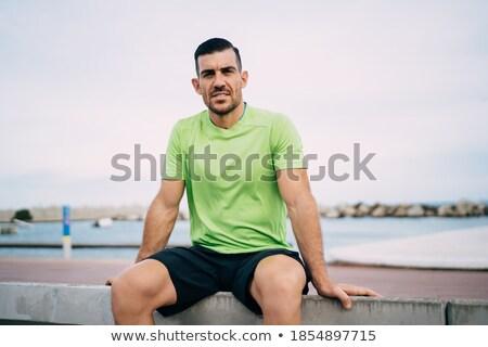 Silne sportowiec męski ciało stałego Zdjęcia stock © benzoix