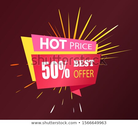 Discounts with Hot Price, Offer on Sale Caption Stock photo © robuart