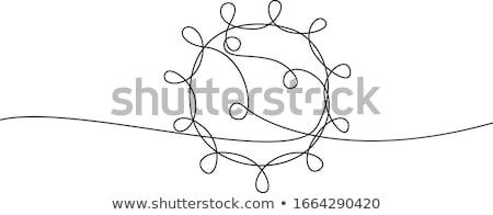 Bioveszély felirat fehér járvány vírus koronavírus Stock fotó © olehsvetiukha