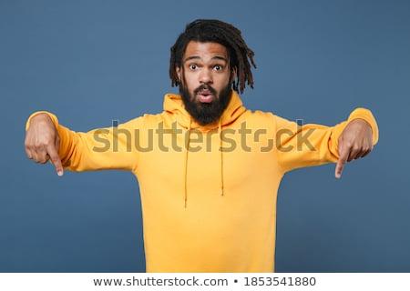 shocked boy in blue hoodie Stock photo © dolgachov