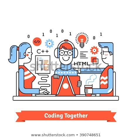 Programação masculino sessão html assinar trabalhando Foto stock © robuart