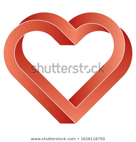 Impossible twisted red heart icon. Stock photo © almagami