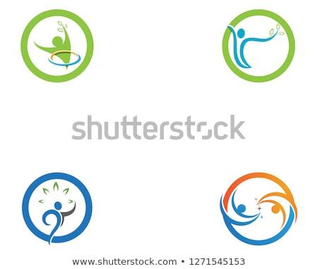 Menselijke karakter logo teken illustratie vector Stockfoto © Ggs