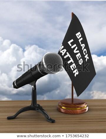 flag with black lives matter on sky background. 3D illustration Stock photo © ISerg