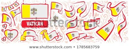 вектора набор флаг Ватикан различный Creative Сток-фото © butenkow