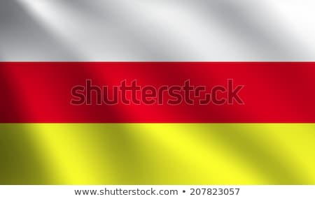 South Ossetia flag, vector illustration on a white background. Stock photo © butenkow