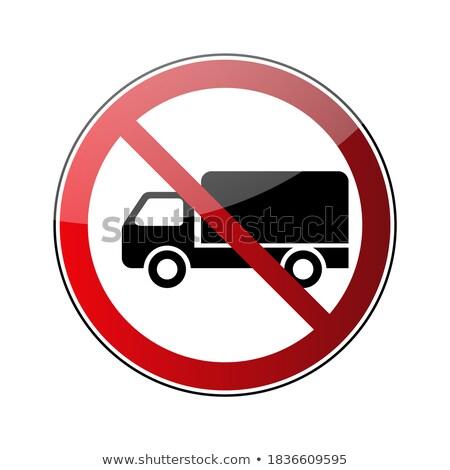 Não carros permitido proibido vermelho Foto stock © evgeny89