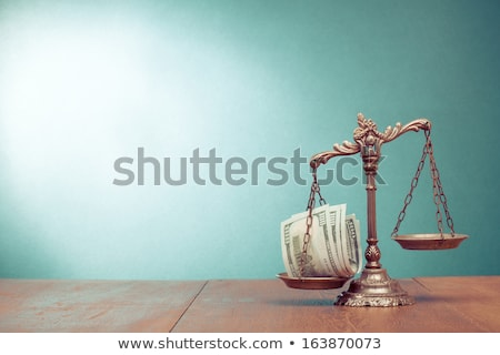 Money Justice Scales Weighing Stock photo © AndreyPopov