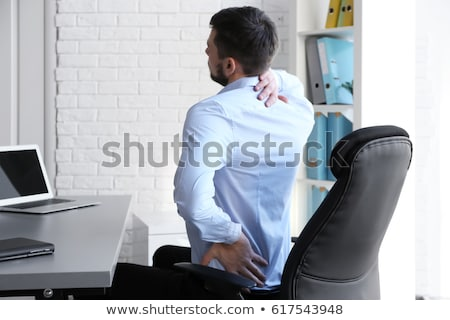 Neck Pain While Working At Computer Stock photo © AndreyPopov
