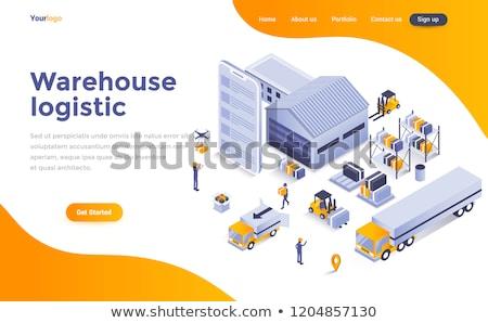 Warehouse logistics concept landing page. Stock photo © RAStudio