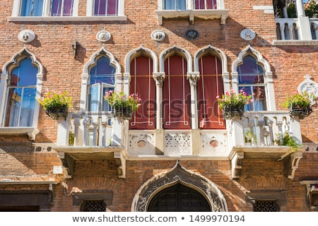 Venetiaanse Windows Venetië typisch Stockfoto © vapi